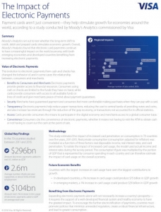 전자 결제가 경제 성장에 미친 영향 (사진제공: VISA Inc.)