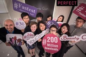 글로벌 뷰티 앱 개발사 퍼펙트의 뷰티 앱이 합산 다운로드 2억 건을 달성했다 (사진제공: Perfect Corp.)