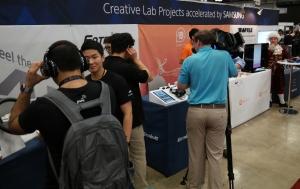 SXSW 2016에 마련된 삼성전자 C랩 우수과제 전시부스 전경 (사진제공: 삼성전자)