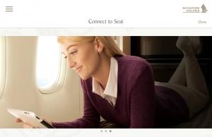 싱가포르항공이 업계 최초로 탑승 전부터 기내 엔터테인먼트 시스템을 이용할 수 있는 컴패니언 앱을 선보인다 (사진제공: 싱가포르항공)