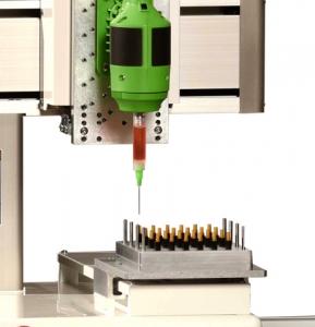피쉬맨 코퍼레이션, 광섬유 케이블 조립 공정 자동화를 위한 최신 벤치탑 로봇 출시 (사진제공: Fishman Corporation)