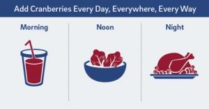크랜베리 팩은 아침 점심 저녁으로 영양 덩어리를 제공해준다 (사진제공: Ocean Spray Cranberries, Inc.)