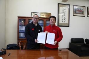 에이스골프가 연태 남산골프학교와 상호 합작에 대한 협약을 체결하였다 (사진제공: 에이스골프)