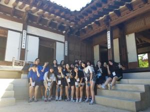 서울배낭여행에 참여 청소년들