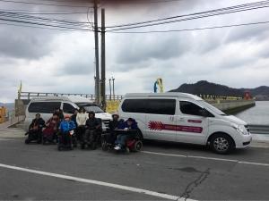 광주광역시교통약자이동지원센터가 세월호 참사 팽목항 추모 방문 차량을 지원했다