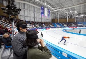 SK텔레콤이 27일부터 나흘간 스페인 바르셀로나에서 열리는 모바일 월드 콩그레스2017에서 초고화질 360 VR 생방송 서비스 360 Live VR을 선보인다