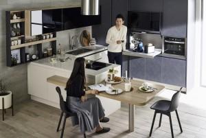 종합 홈 인테리어 전문기업 한샘은 최신 유럽 트렌드 디자인에 한국형 수납 솔루션을 제공하는 부엌가구 신제품 유로 터치 시리즈를 출시했다