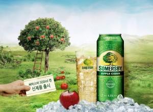 비어케이는 세계적인 맥주그룹 칼스버그가 사과를 발효해 만든 알코올 함량 4.5%의 애플 사이더 써머스비의 500ml 캔 신제품을 출시한다