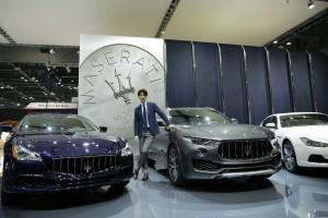 마세라티가 30일 일산 킨텍스에서 열린 2017 서울모터쇼에서 세계적인 패션 명품 브랜드 에르메네질도 제냐와의 협업을 통해 제작한 제냐 인테리어 차량을 출품했다