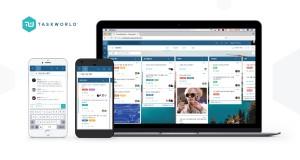 태스크월드의 데스크탑 버전과 안드로이드, iOS 모바일 버전
