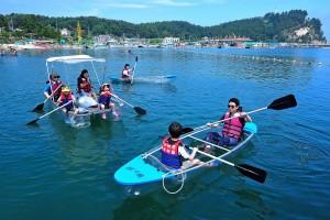 수산 어촌체험마을 투명카투체험