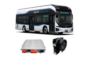 현대자동차 전기버스 일렉시티 및 적용된 인버터와 휠모터