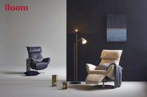 일룸이 편안한 착좌감과 고급스러운 디자인은 기본, 효율적인 공간 활용성까지 겸비한 1인 리클라이너 소파 볼케를 출시했다