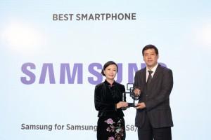 삼성전자가 갤럭시 S8·갤럭시 S8+MWC 2017 상하이 최고 스마트폰으로 선정됐다