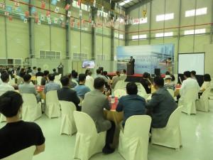 지엠아이그룹이 8일 수륙양용자동차 공장 오픈식을 가졌다