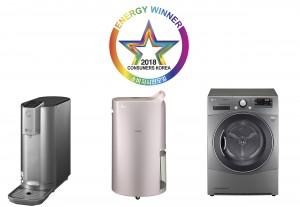 LG전자가 올해의 에너지위너상에서 대상 3개를 수상했다