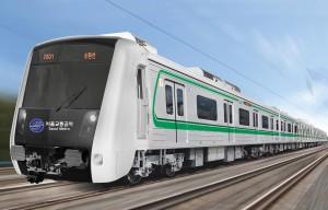 현대로템이 서울교통공사에서 발주한 1,760억원 규모의 서울시 2호선 전동차 214량 사업을 낙찰 받았다. 사진은 서울시 2호선 전동차 조감도