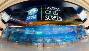 LG전자가 아랍에미리트 두바이에 세계 최대 크기의 올레드 사이니지를 설치했다