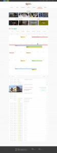 생큐 메인 화면(개인별 맞춤형 학사일정표)