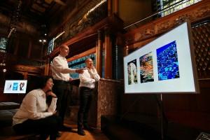 삼성전자가 23일 갤럭시 언팩서 더 프레임 통해 다양한 작품을 전시했다