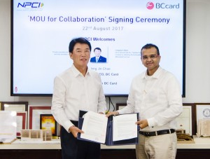 BC카드가 인도 NPCI와 상호 네트워크 제휴에 대한 MOU를 체결했다