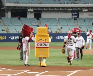 경남제약은 8월 20일 서울 고척 스카이돔에서 열린 넥센 히어로즈-NC 경기에서 레모나 스폰서 데이를 성황리에 개최했다