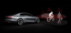 제네시스 G70에 전방에 있는 자전거와 충돌을 방지하는 기술이 탑재된다
