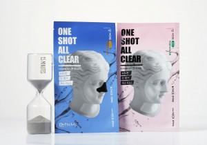 LG생활건강이 더마 스킨케어 팩 솔루션 브랜드 닥터패커의 신개념 마스크 원샷-올클리어 마스크를 출시했다