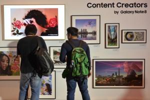 삼성전자가 태국과 말레이시아서 갤럭시 노트8 출시 행사를 개최했다. 사진은 태국 행사 현장