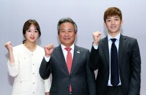 대한체육회가 평창동계올림픽 체육인 자원봉사자 발대식을 개최했다