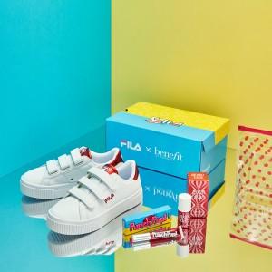 베네피트가 스포츠 브랜드 휠라와 콜라보를 통해 톡톡 튀는 컬러의 코트디럭스 볼드 샤이니 팝 시리즈를 선보이고 16일부터 스페셜 콜라보 패키지를 한정 판매한다