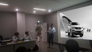쌍용자동차가 글로벌 판매를 확대하고 제품경쟁력을 강화하기 위해 해외 판매 네트워크가 참여하는 글로벌 제품 마케팅 협의회를 개최했다