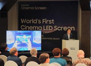 삼성전자가 부산국제영화제서 시네마 LED가 가져올 영화관의 미래 주제로 세미나를 개최했다