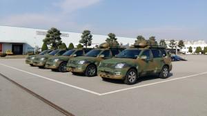 기아자동차는 모하비를 군용화 개조한 차량 20여대를 대한민국 공군에 납품한다