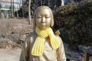이불이불이 위안부 할머니 위한 크라우드 펀딩 실시한다. 사진은 위안부 소녀상