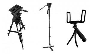 디지털홍일이 Libec 사은품 증정 방송 장비 렌탈샵 데모 이벤트를 실시한다. 사진은 삼각대, 모노포드, 스마트샷