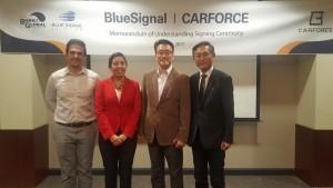 블루시그널이 카포스와 업무협약을 체결하고 미국 시장에 본격적으로 진출한다