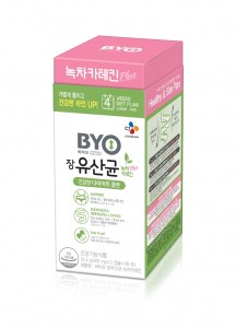 CJ제일제당이 BYO 장유산균 녹차카테킨을 출시했다