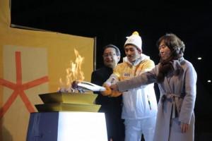 2018 평창 동계올림픽 성화가 14일 세종특별자치시 봉송을 성공적으로 마쳤다