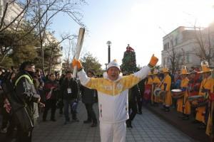2018 평창동계올림픽 성화가 아산을 방문, 성공적으로 봉송을 완료했다