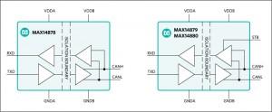 맥심 인터그레이티드 코리아가 절연 CAN 트랜시버 2.75kV/5kV 제품군 MAX14878, MAX14879, MAX14880을 출시했다
