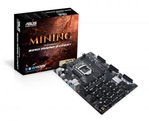 에이수스가 세계 최초로 단일 메인보드로는 가장 많은 19개의 PCIe 확장 슬롯을 보유한 가상 화폐 채굴 전용 메인보드 ASUS B250 MINING EXPERT를 국내에 출시한다