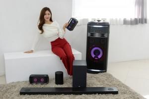 LG전자가 CES 2018에서 사운드바, 포터블 스피커, AI 오디오 등 2018년형 오디오 제품군을 공개한다