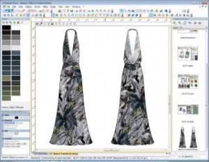 렉트라가 패션 전문 CAD 칼레도를 국내 대학교에 무상으로 지원한다고 결정했다. 사진은 디자인 작업 중인 칼레도 프로그램