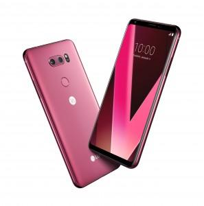 LG전자가 CES 2018에서 프리미엄 스마트폰 LG V30의 새로운 색상인 라즈베리 로즈를 공개한다