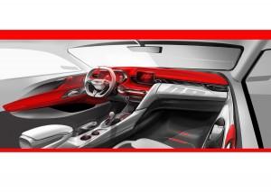 현대자동차가 신형 벨로스터 렌더링을 공개했다
