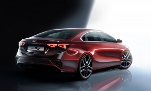 기아자동차는 11일 올 뉴 K3의 렌더링 이미지를 최초 공개했다