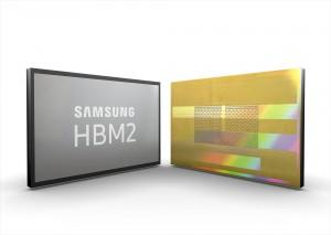 삼성전자가 세계 최대 전송량의 2세대 8GB HBM2 D램 Aquabolt를 양산한다