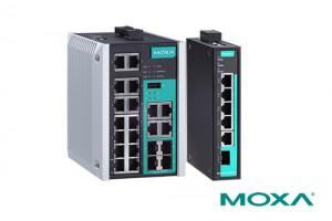 Moxa가 자사의 EDS-518E 및 EDS-G205 DIN-레일 이더넷 스위치가 DNV.GL, LR, ABS 및 NKK를 포함한 해양 인증을 획득하고 전 세계에 출시되었음을 발표했다