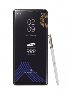 삼성전자가 갤럭시 노트8 올림픽 에디션을 공개했다